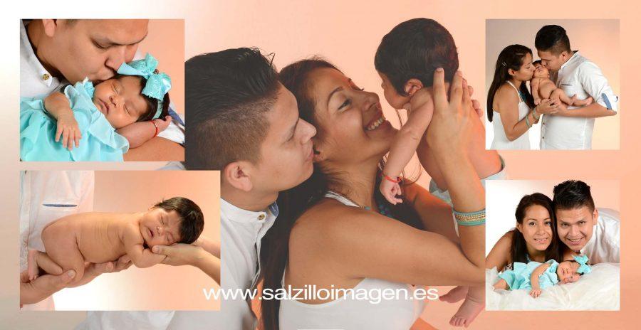Sara, fotos de estudio de bebé